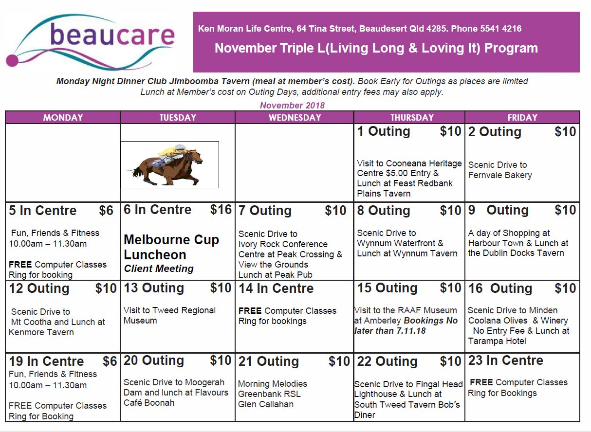 Beaucare Trips Oct 2018