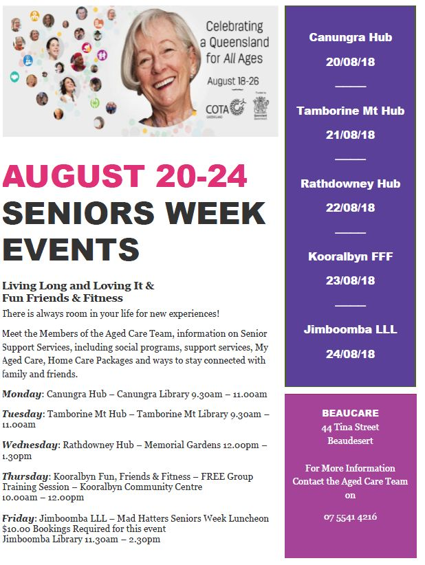 Beacare Seniors Week 2018